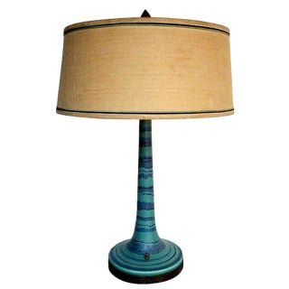 """Rare Form Fong Chow """"Gulfstream"""" Lamp With Shade For Sale"""