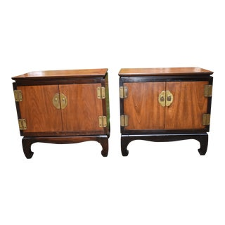 1960s Lane Chinoiserie Nightstands-a Pair For Sale