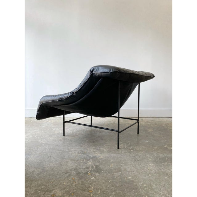 1980s 1980s Gerard Van Den Berg Black Leather Butterfly Chair For Sale - Image 5 of 11