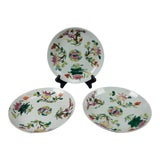 Image of Antique Chinese Qing Dynasty Plates - Set of 3 For Sale