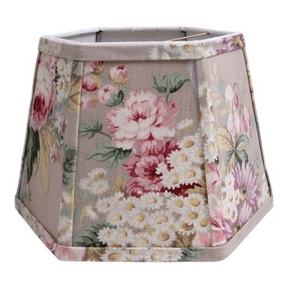 Lamp Shade With Vintage Floral Fabric For Sale
