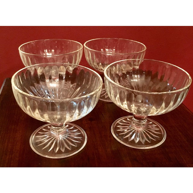 Mid-Century Ribbed Champagne Coupes - Set of 4 - Image 2 of 7
