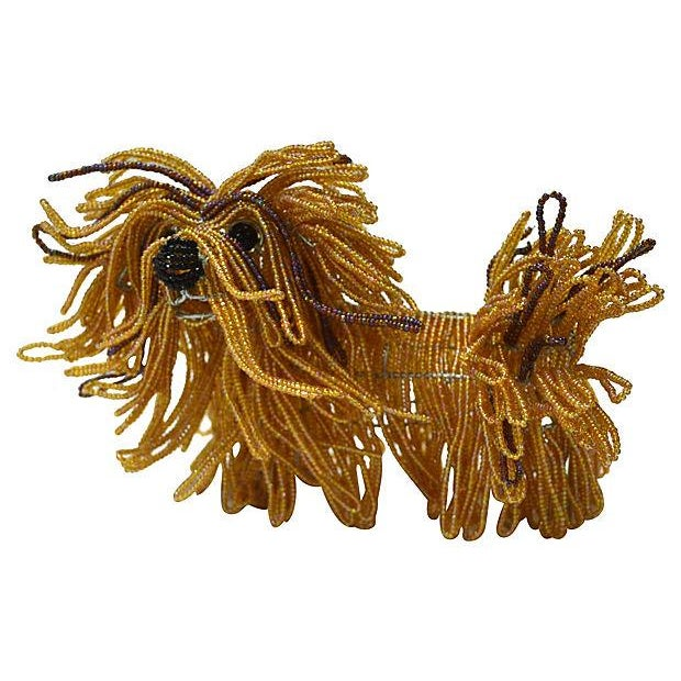 Glass Beaded Lhasa Apso Dog Sculpture - Image 2 of 4