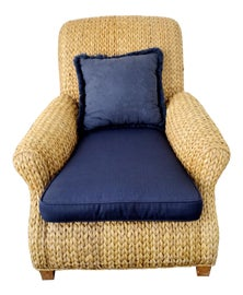 Image of Navy Blue Club Chairs
