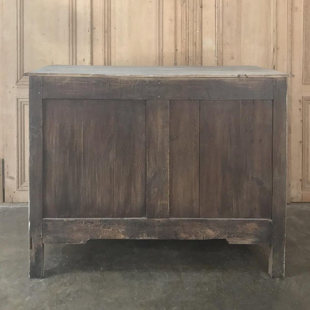 18th Century Country French Whitewashed Oak Commode For Sale - Image 11 of 13