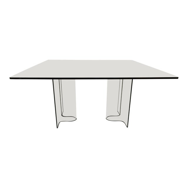 1980s Fiam Italia Glass Dining Table - Image 1 of 3