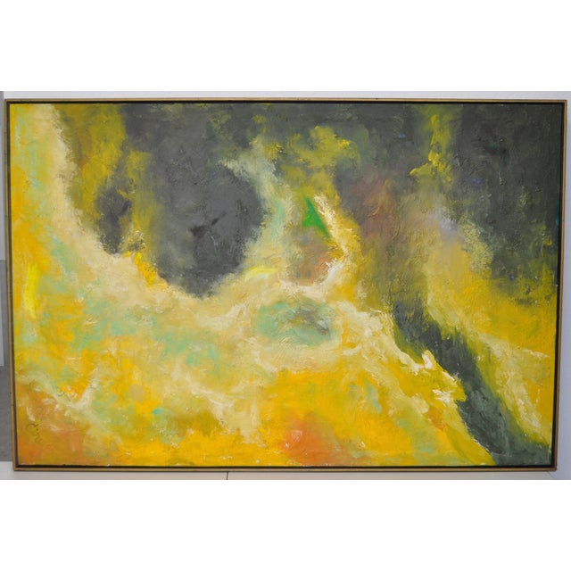 Vintage Abstract Oil Painting C.1969 - Image 2 of 6