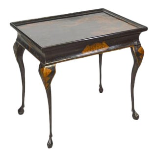 Maitland Smith Chinoiserie Painted Hoof Foot Occasional Tea Table