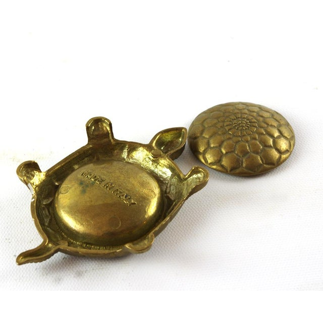 Vintage Brass Turtle Trinket Box For Sale In Minneapolis - Image 6 of 6