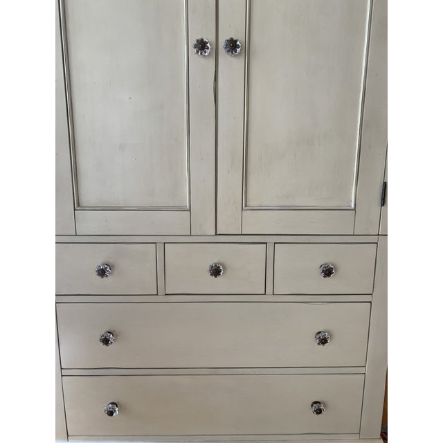 Pottery Barn Charlotte Armoire in Antique White For Sale In Washington DC - Image 6 of 10