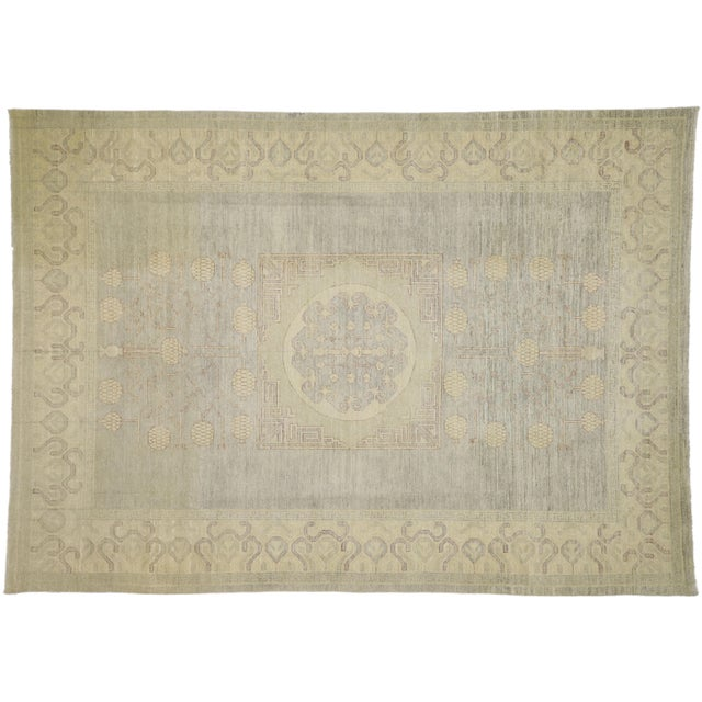 Transitional Khotan Style Area Rug - 8'9 X 12'2 For Sale - Image 10 of 10