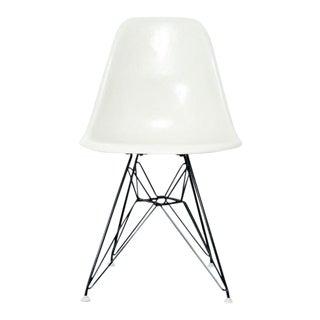 Vintage Eames Fiberglass Chair- White For Sale
