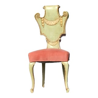 Custom Made French Provincial Accent or Desk Chair For Sale