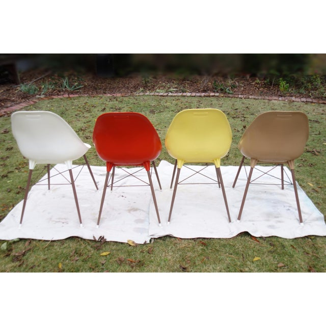 Vintage Sam Avedon Shell Dining Chairs - Set of 4 - Image 3 of 8