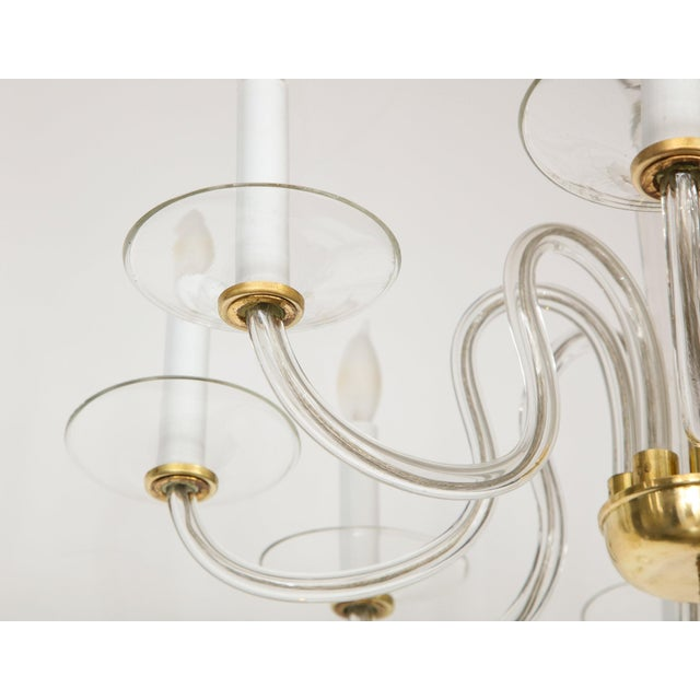 1960s Murano Glass Eight Arm Chandelier For Sale In New York - Image 6 of 11