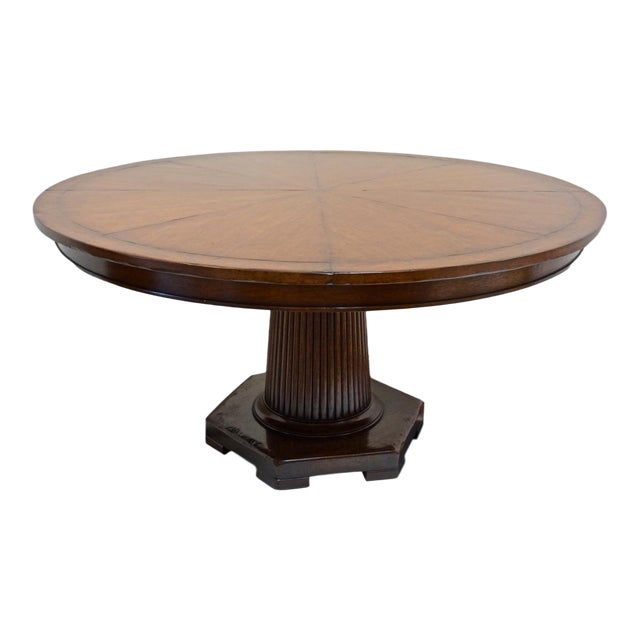 Pleasing Rose Tarlow 58 Round Mahogany Pedestal Dining Table Chairish Gmtry Best Dining Table And Chair Ideas Images Gmtryco