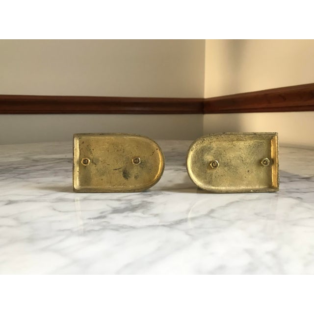 Vintage Mid-Century Brass Unicorn Bookends - a Pair For Sale In Providence - Image 6 of 9