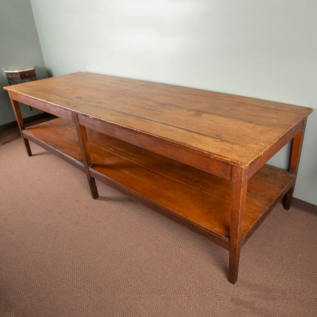 French Large 19th Century French Pine Drapers Table With Original Finish For Sale - Image 3 of 13