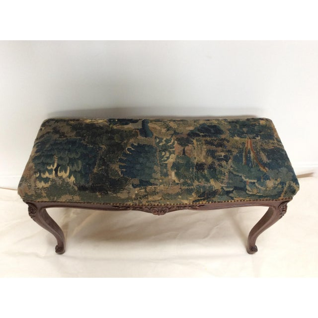 18th C Tapestry French Walnut Bench For Sale In San Francisco - Image 6 of 6