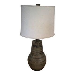Martz Mid-Century Earth Tone Ceramic Table Lamp For Sale