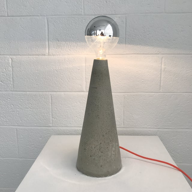 Nicholas Tilma Tall Concrete Cone Light For Sale - Image 4 of 4