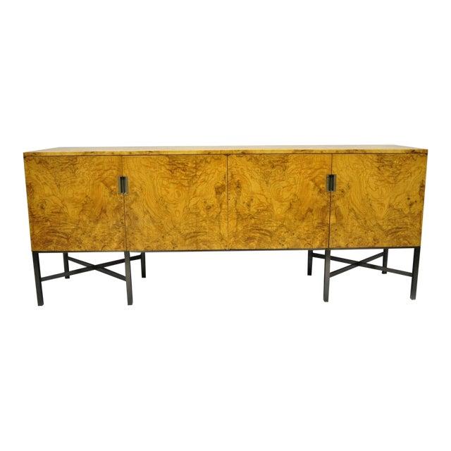 Roger Sprunger for Dunbar Burled Olivewood Credenza For Sale