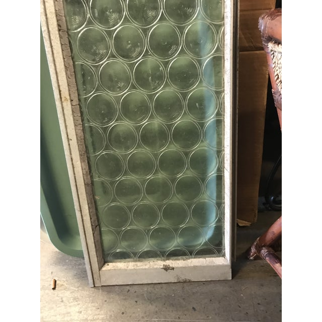 Vintage Bottle Glass Windows-A Pair For Sale In West Palm - Image 6 of 13