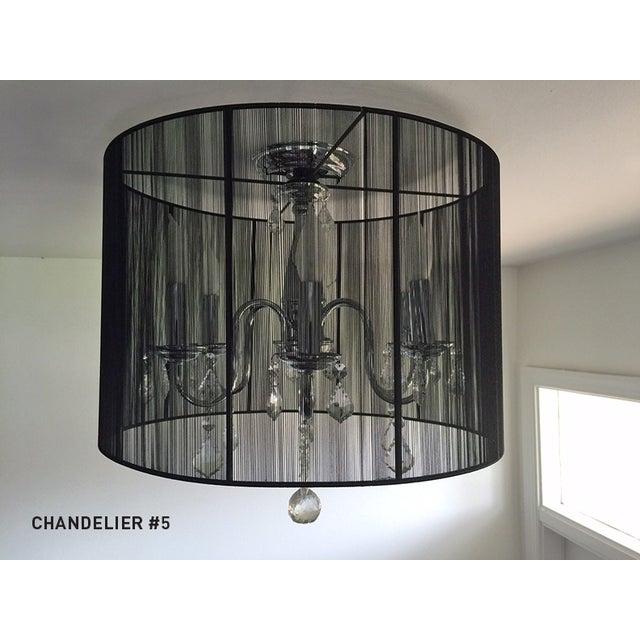 6-Light Silk String Semi-Flush Mount - Image 3 of 3
