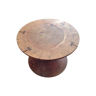 Solid Acacia Wood Round Coffee Table
