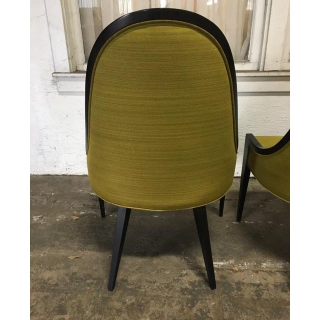 """Mid 20th Century Vintage Mid Century Harvey Probber """"Gondola"""" Chairs - A Pair For Sale - Image 5 of 6"""
