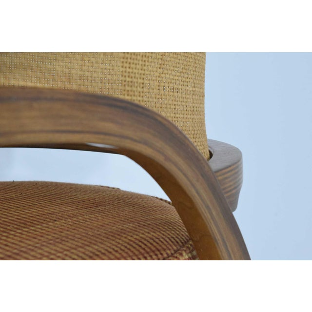 Danish Modern Dunbar Cane Back Lounge Chairs by Edward Wormley - a Pair For Sale - Image 3 of 11