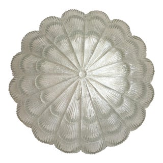 Textured Glass Flush Light For Sale