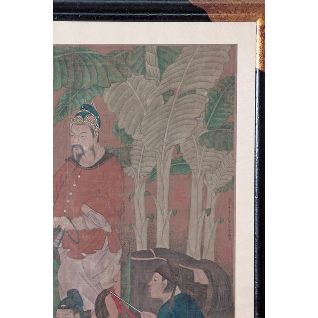 Chinese Scroll Painting of a Dignitary on Horseback For Sale In Dallas - Image 6 of 11