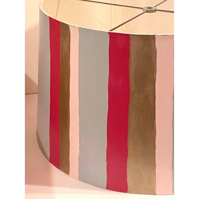 Hand Painted Custom Modern Lampshade For Sale In Atlanta - Image 6 of 12