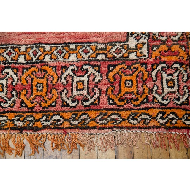 "Red Moroccan Taznakht Rug - 6'7"" X 8' - Image 6 of 8"