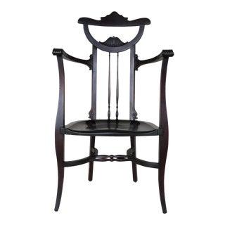 Antique Aesthetic Movement Walnut Butler Chair