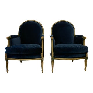 Louis XVI Style Bergères a Pair For Sale