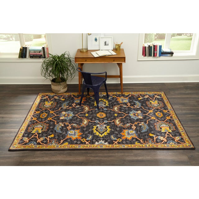 """Ibiza Charcoal Hand Tufted Area Rug 2'3"""" X 7'10"""" Runner For Sale In Atlanta - Image 6 of 7"""