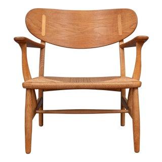 Hans Wegner Ch 22 Lounge Chair For Sale