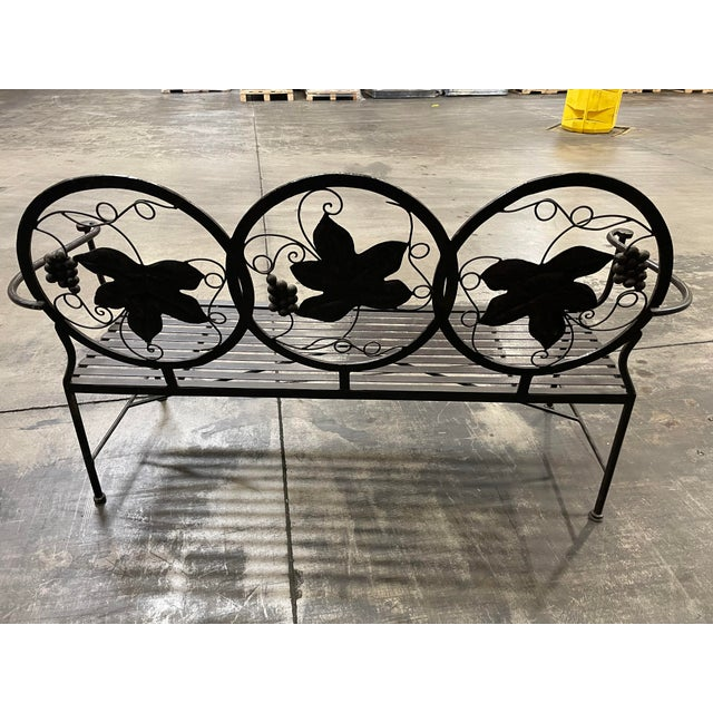 Late 20th Century Heavy Iron Bench by Maitland Smith For Sale - Image 9 of 11