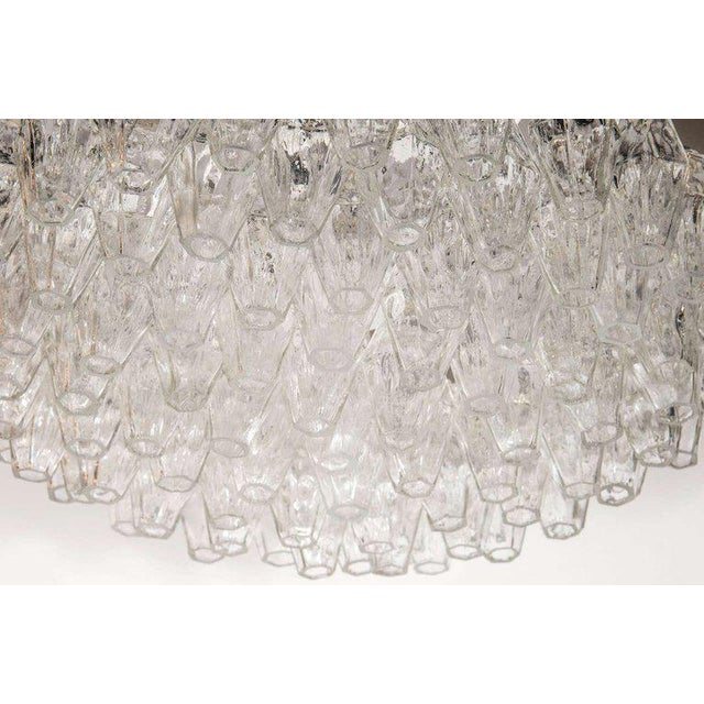 Mid-Century Modern Modernist Handblown Translucent Murano Glass Polyhedral Chandelier For Sale - Image 3 of 8