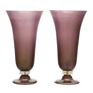 Purple Murano Glass Urn Lamps For Sale