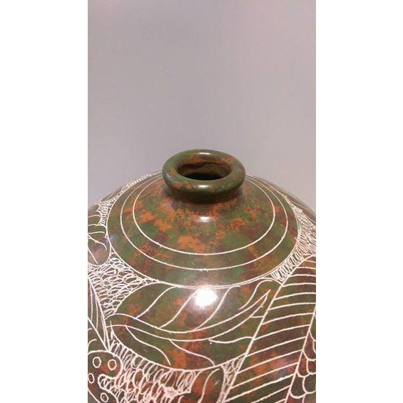 Nicaraguan Artisan Pottery Vase - Image 5 of 7