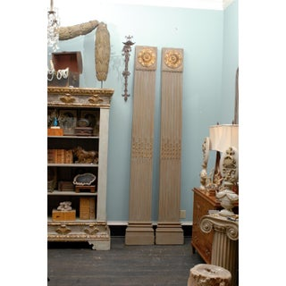 19th Century Italian Painted and Gilded Pilasters With Gilded Medallions - a Pair Preview