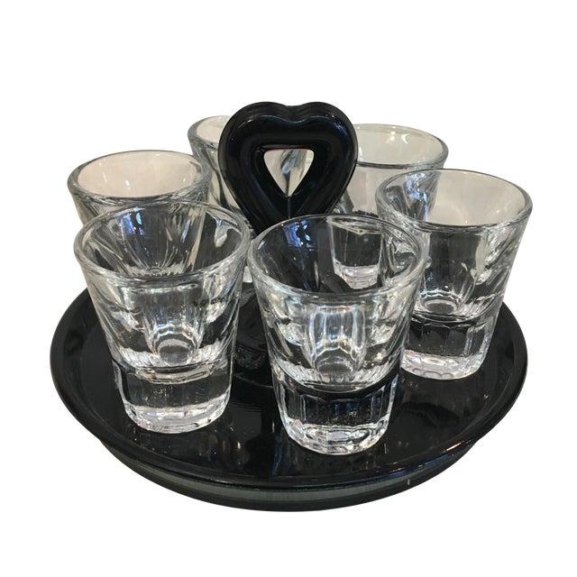 Vintage Shot Glass Set With Carrier - Image 1 of 4