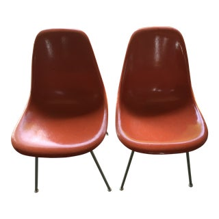 1960s Vintage Herman Miller Eames Side Chairs- a Pair For Sale