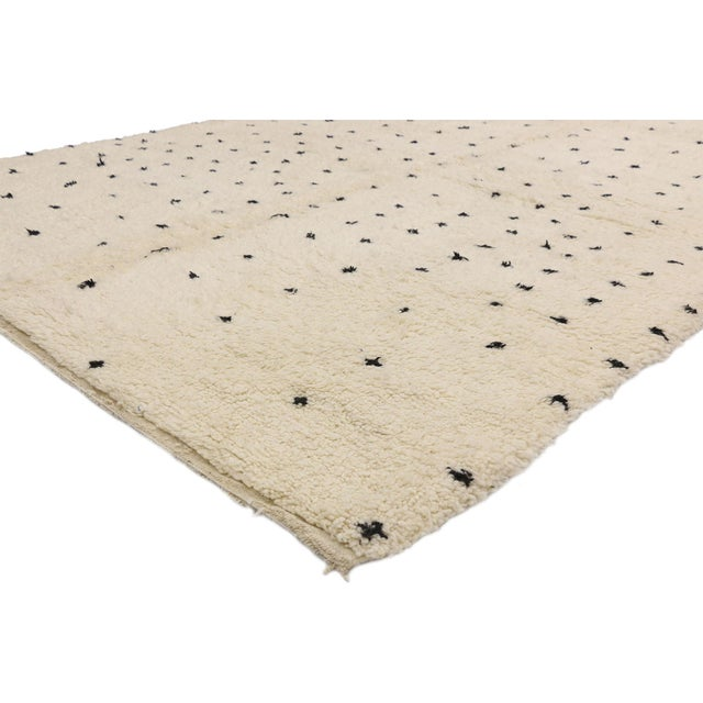 20785 Contemporary Berber Moroccan Rug Inspired by Yayoi Kusama Polka Dot Motifs 07'00 x 09'06. This gorgeous hand knotted...