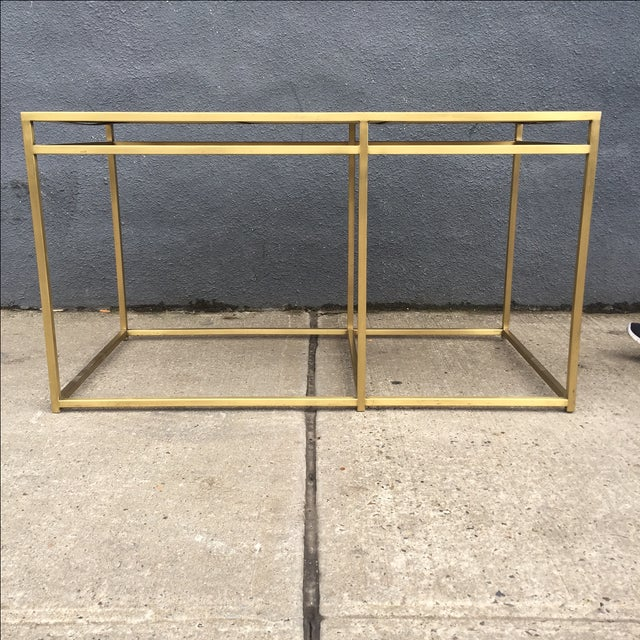 Contemporary Paul Laszlo Custom Brass and Terrazzo Table For Sale - Image 3 of 8