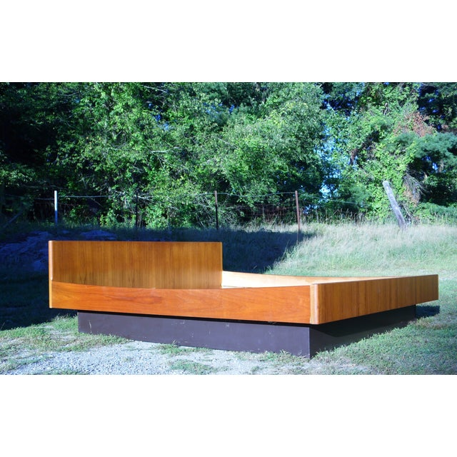 Danish Modern Teak King Platform Bed - Image 6 of 11
