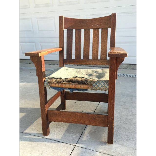 Early 19th-C. Gustav Stickley Armchair - Image 3 of 11